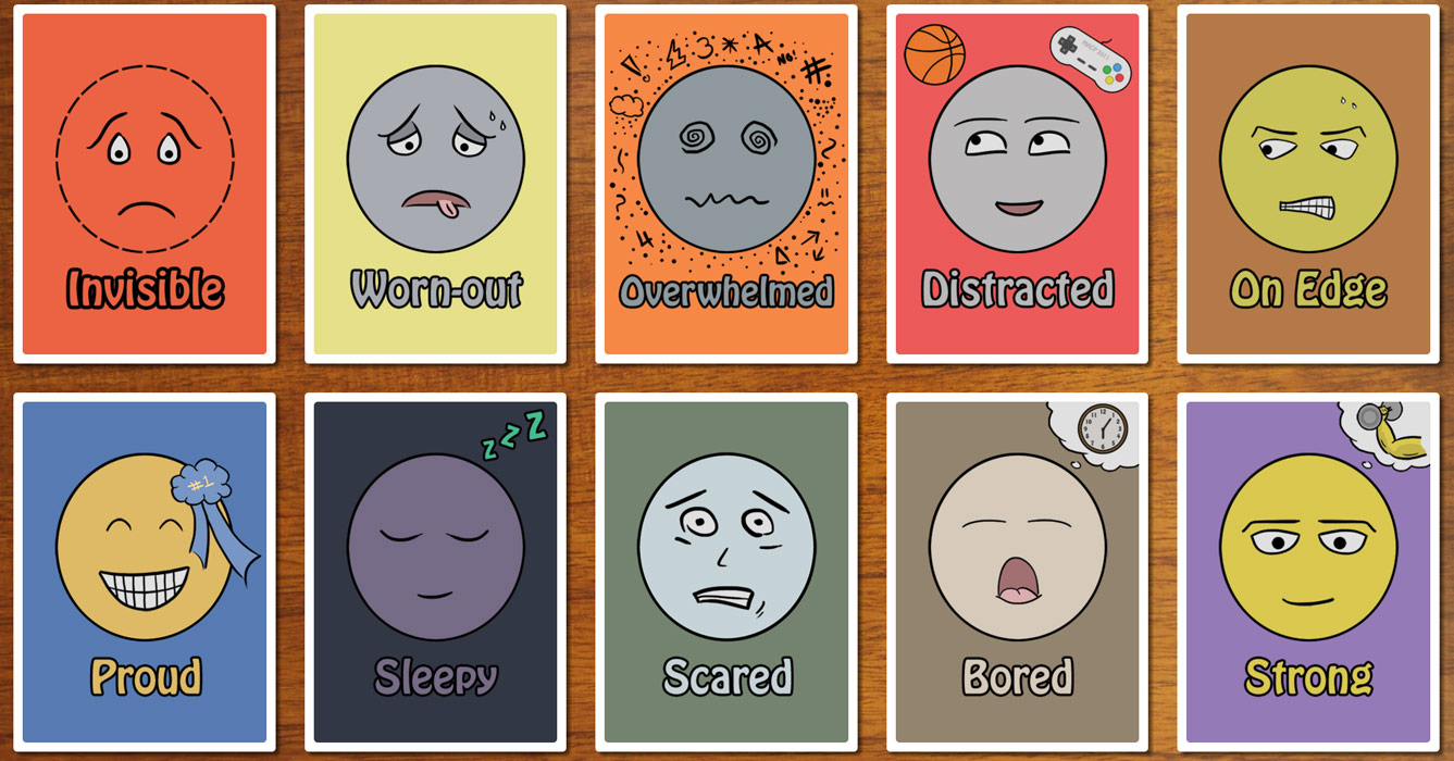 image about Free Printable Emotion Cards known as Feeling Playing cards: Thoughts (Interactive) Therapist Support