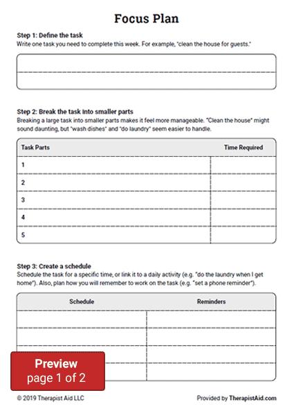 ADHD Focus Plan Preview