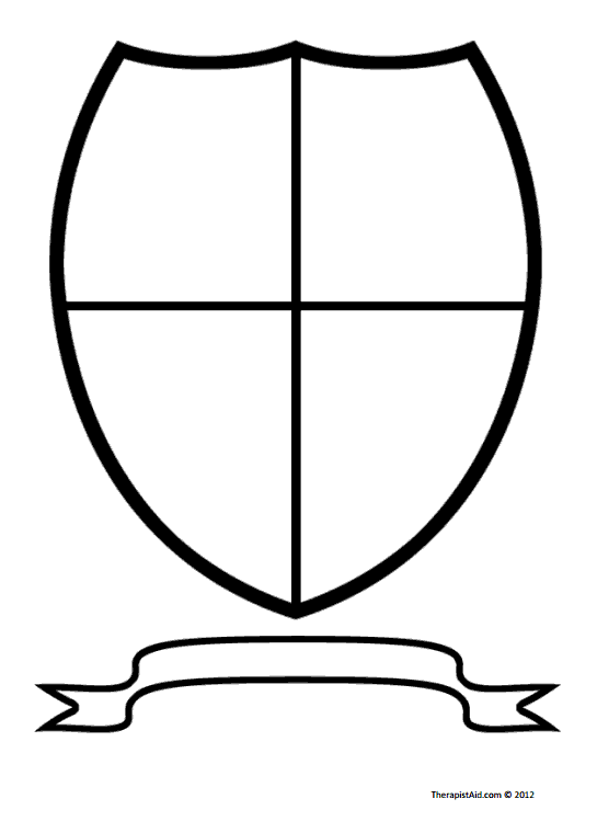 Coat of Arms / Family Crest (Worksheet) | Therapist Aid