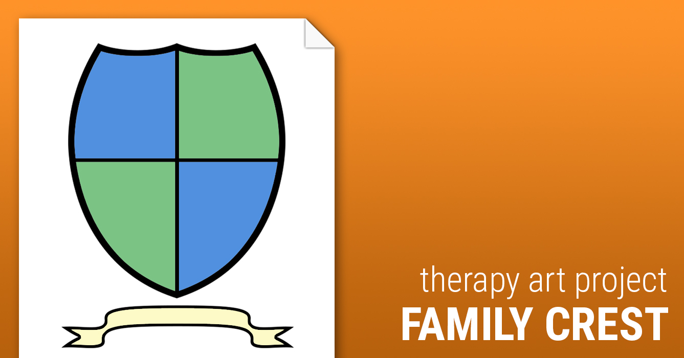 Coat Of Arms Family Crest Worksheet Therapist Aid