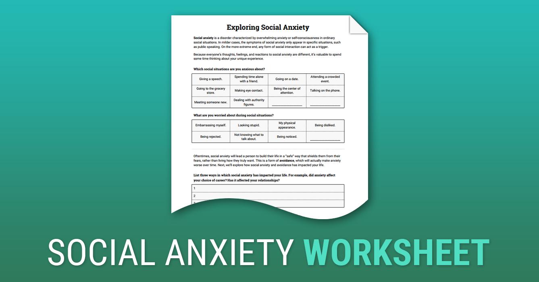 social anxiety worksheets Termolak – Social Anxiety Worksheets
