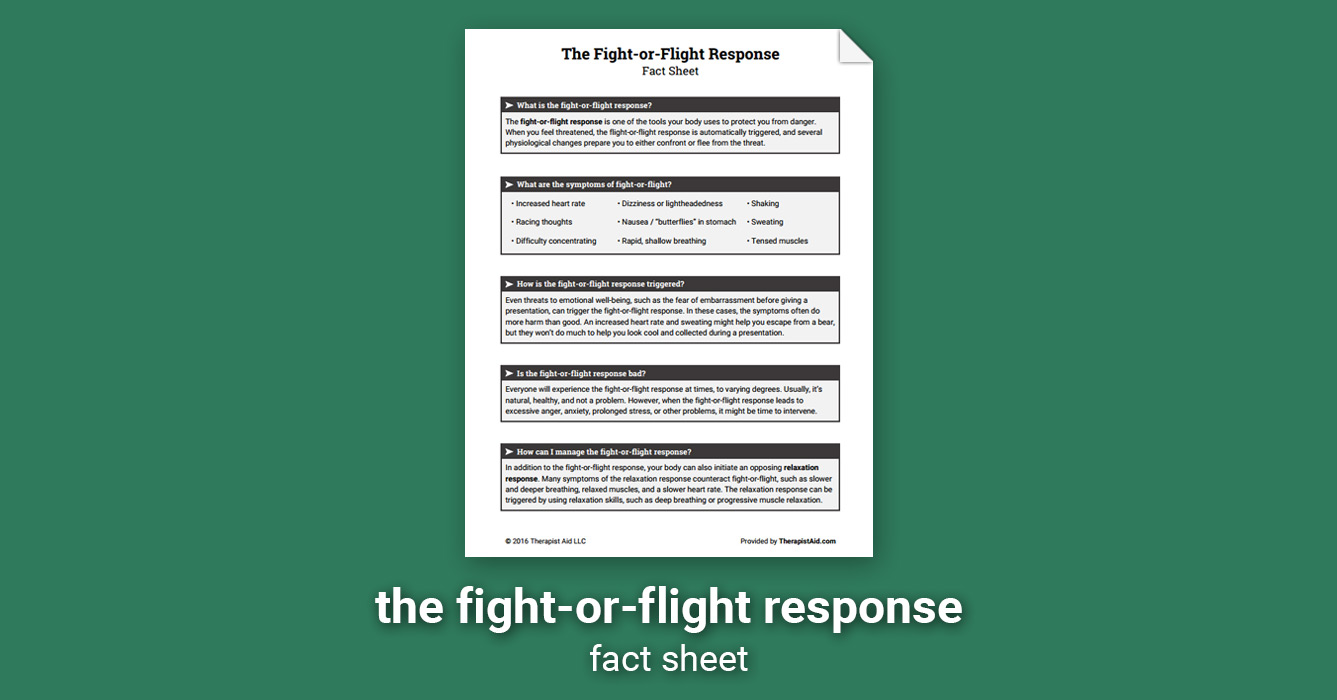 The Fight-or-Flight Response (Worksheet) | Therapist Aid