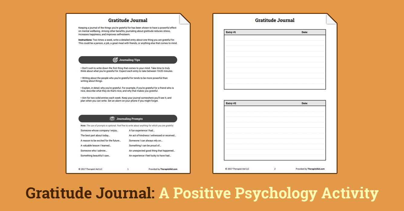 worksheet Gratitude Worksheet gratitude journal worksheet therapist aid