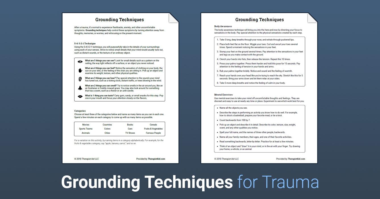photograph regarding Free Printable Ptsd Workbook identify Grounding Insider secrets (Worksheet) Therapist Help