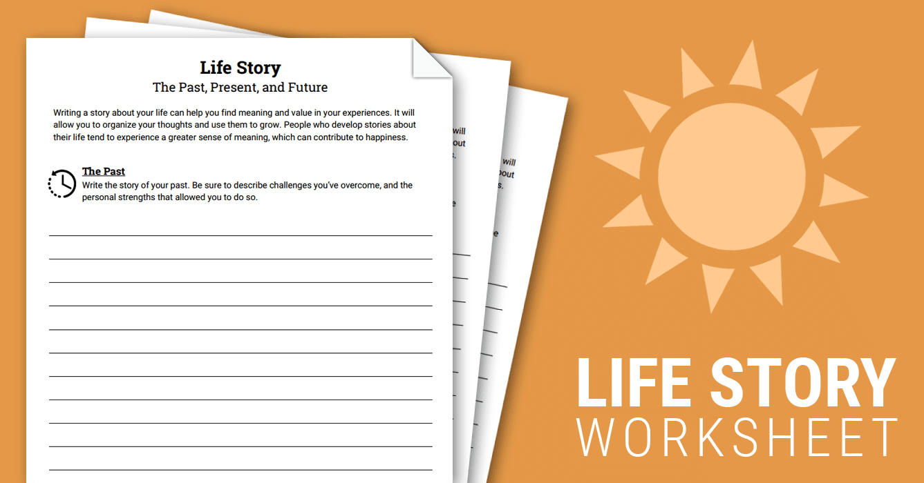 Life Story Worksheet Therapist Aid