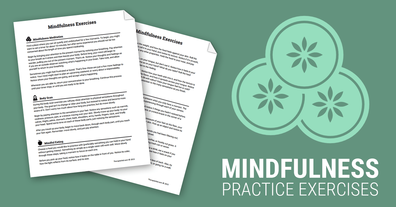 Mindfulness Exercises (Worksheet) | Therapist Aid