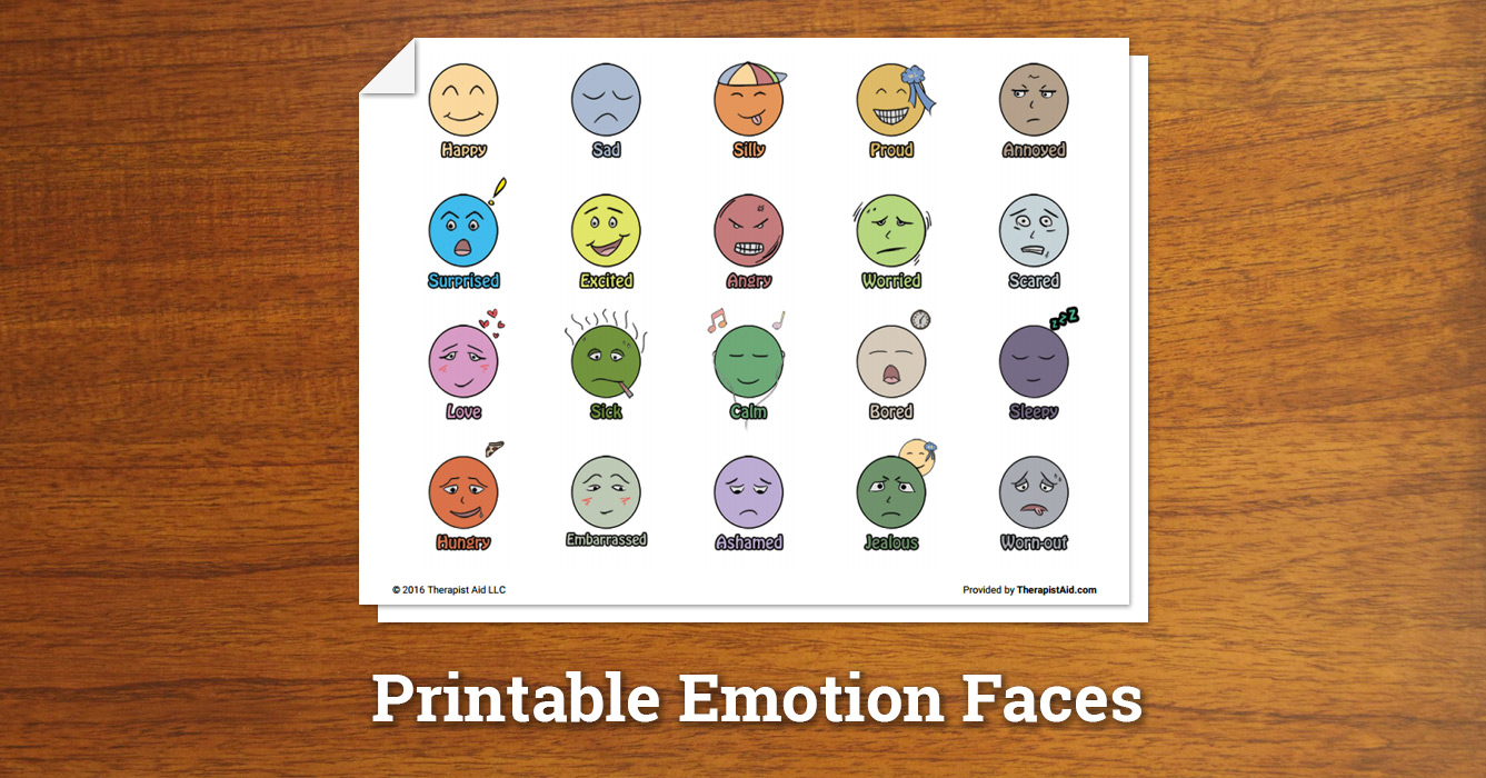 image regarding Free Printable Emotion Faces identified as Printable Sensation Faces (Worksheet) Therapist Assistance