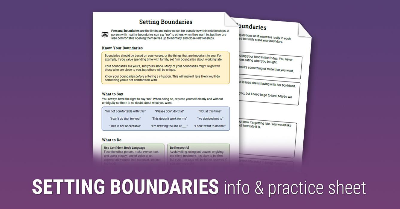 Limits worksheet setting Boundaries Worksheets(7+)