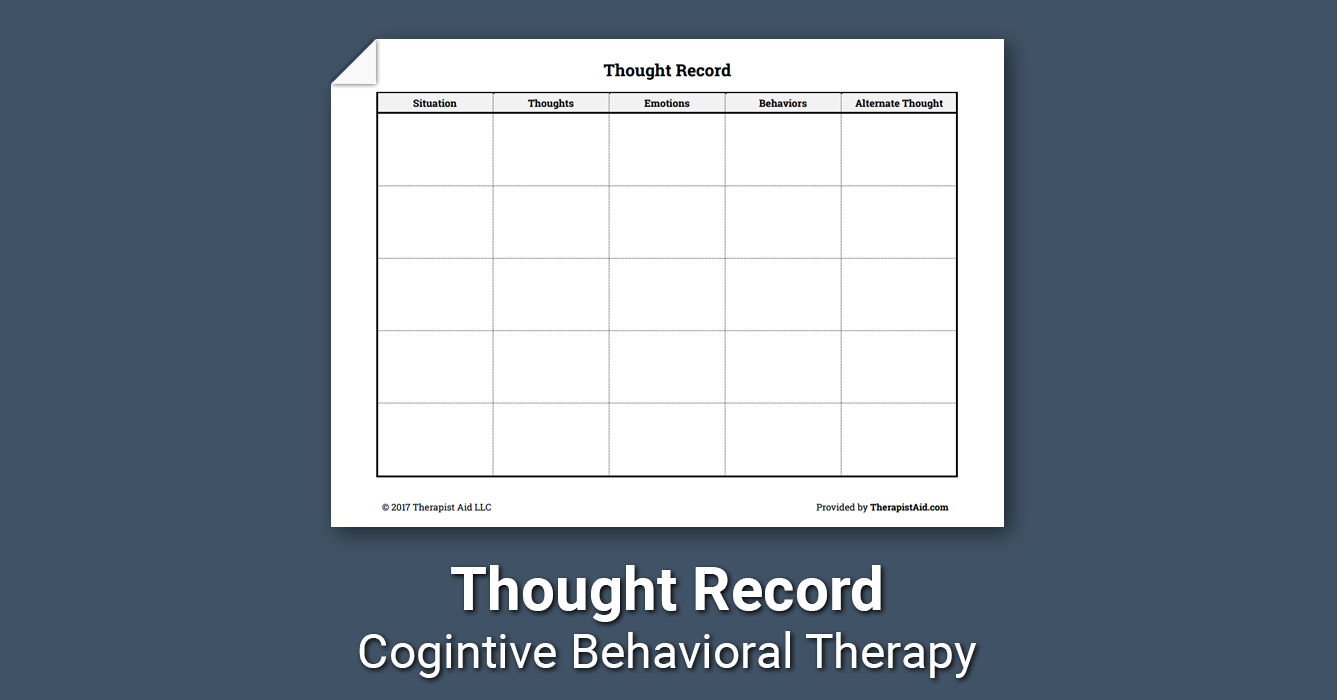 Thought Record Worksheet
