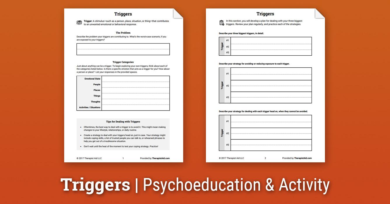 Triggers (Worksheet) | Therapist Aid