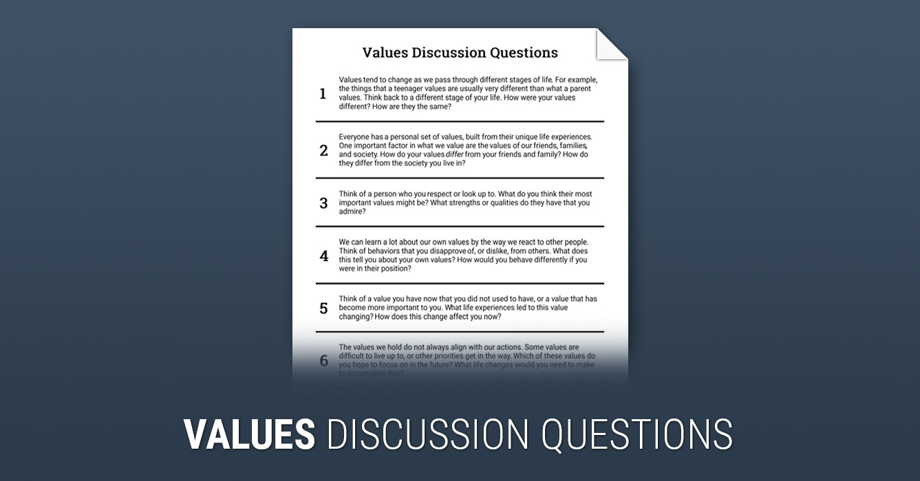 discussion questions Use the questions on this printable sheet to discuss any book your students might be studying they will practice critical thinking skills while considering the.