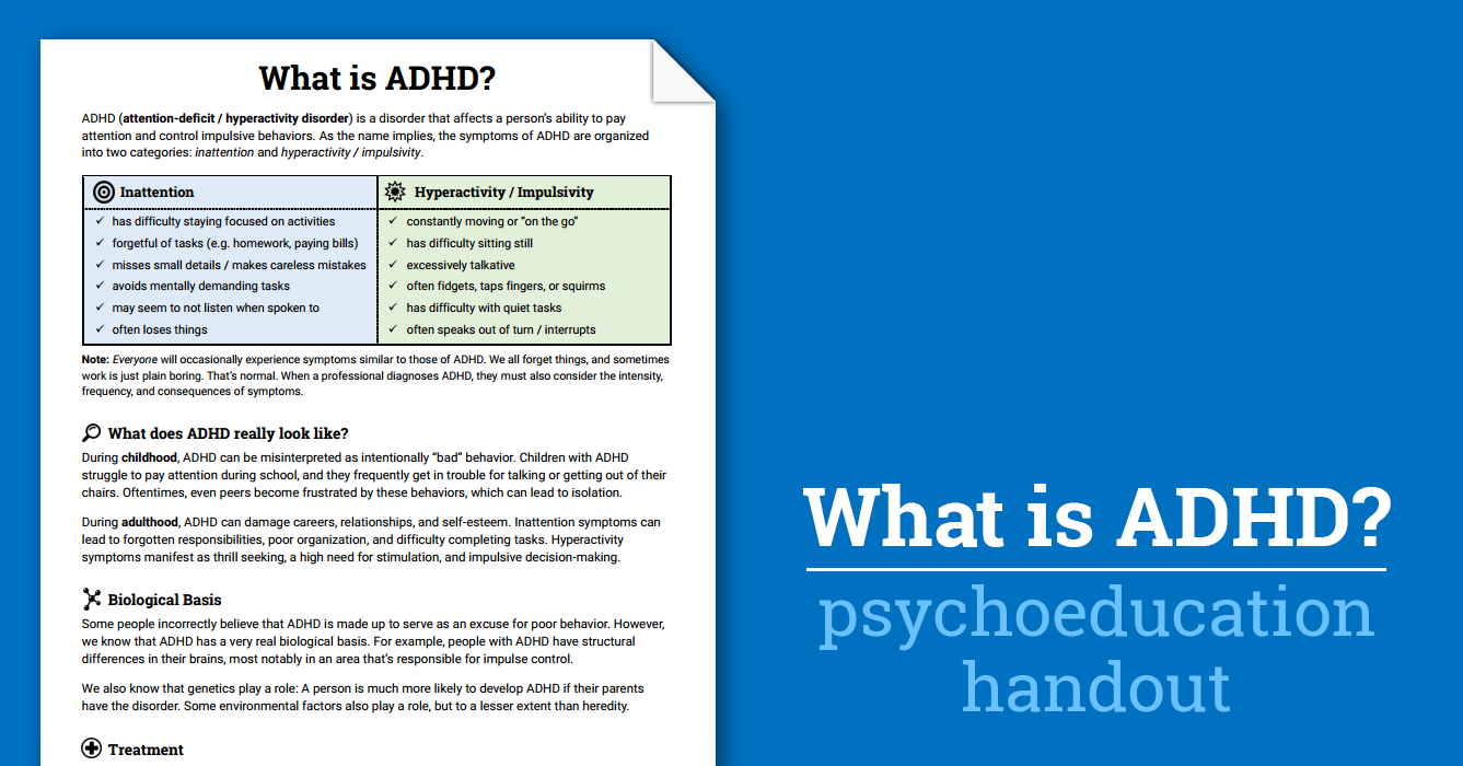 worksheet Cbt Adhd Worksheets what is add adhd worksheet therapist aid