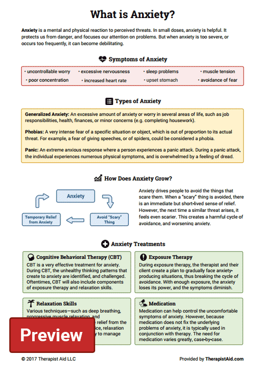 What is Anxiety? (Worksheet) | Therapist Aid
