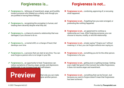 What is Forgiveness? Preview