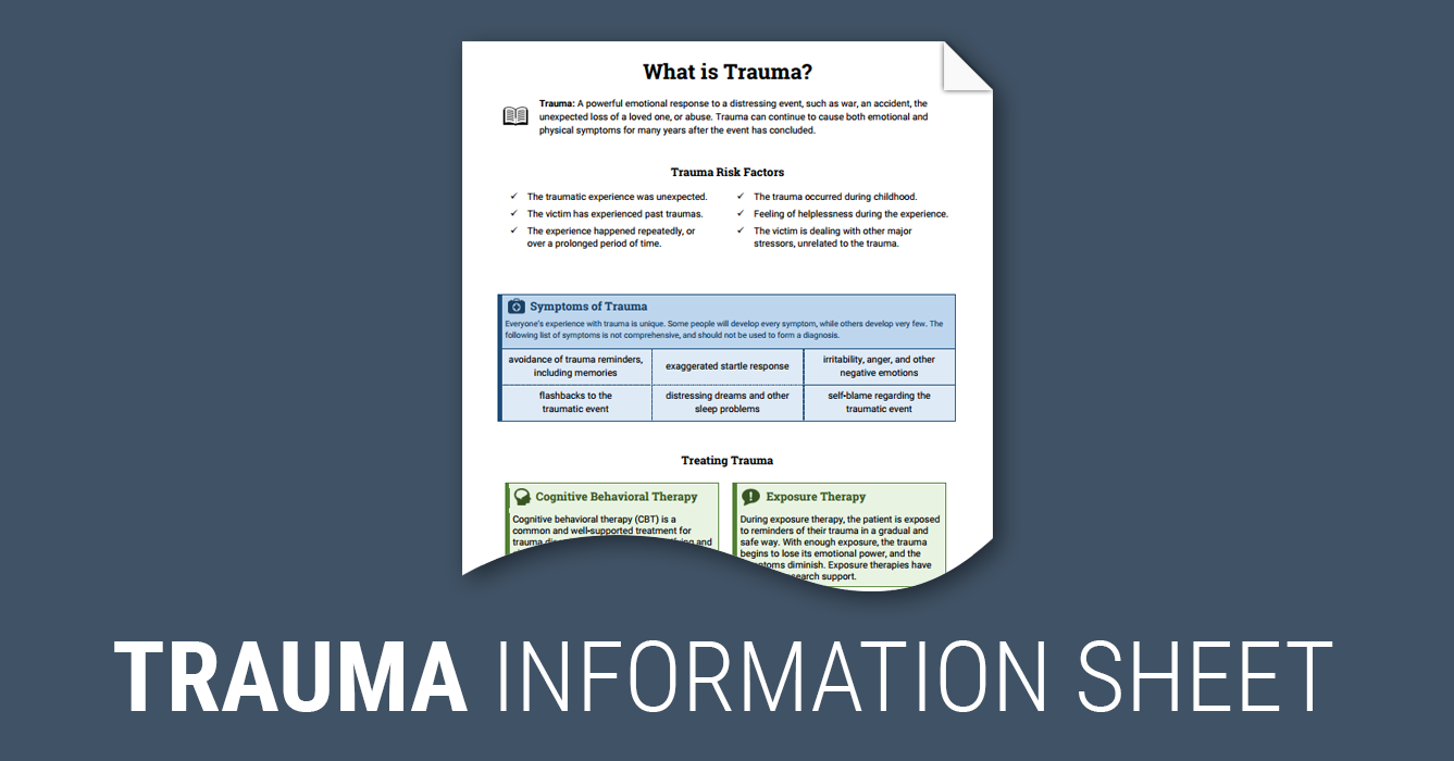 What is Trauma? (Worksheet) | Therapist Aid