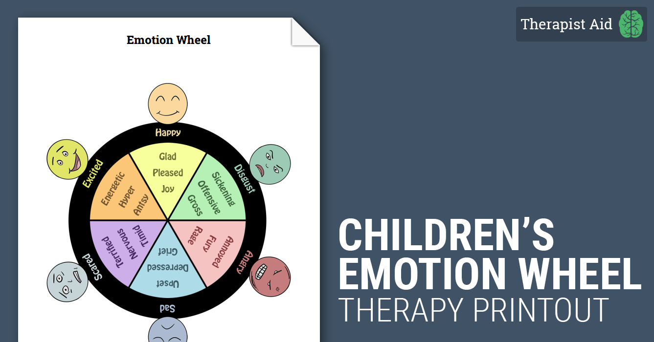 Wheel Of Emotions Children on Grief Worksheet